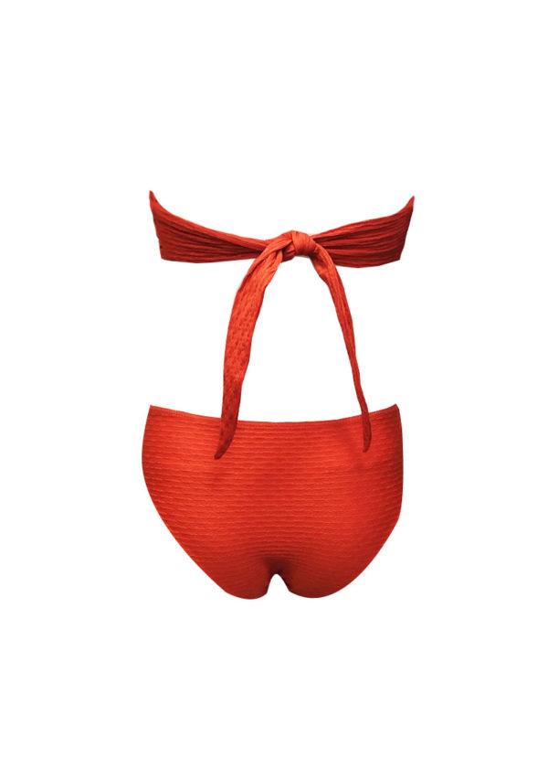 Luxurious orange swimsuit