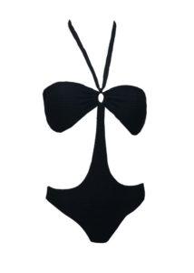 Черен луксозен бански