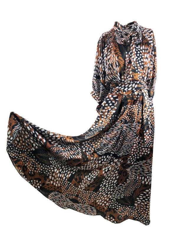 Копринена ефектна рокля