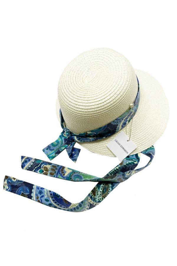 Лятна плетена шапка